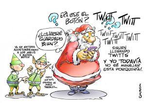 Santa Claus twit